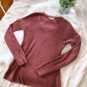 Pink Rose Choker Neck Sweater   Large